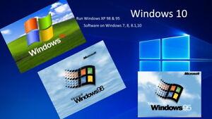 Virtual Machine software run win 95 98 XP games on Win 7, 8 ,8.1 ,10