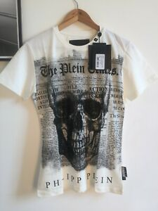 """Philipp Plein T-shirt round Neck SS """"USE"""" size M"""