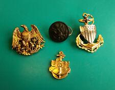 USN, E Plurbius Unum Eagle Pin, The Art Metal Works Button, Vanguard Pin Lot