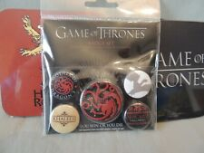 Game of Thrones new Badge set & 3 coasters official Hbo 2015