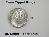 2mm Tippet Rings Dry/Wet/Nymph Fly Fishing Leader Tippet Ring Black + Free Ship