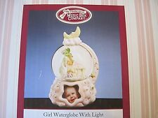 Baby Girl Water Globe w/Light By San Francisco Music Box Company