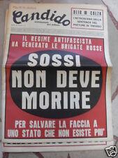 CANDIDO SOSSI NON DEVE MORIRE 16 MAGGIO 1974
