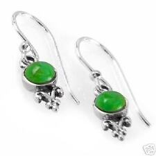 genuine gaspeites and sterling silver dangle earrings