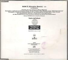 "LUCA CARBONI - RARO CDs PROMO "" NON E' (GIORGINO REMIX) """