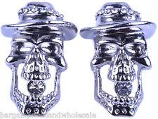 Punk Style Vintage Skeleton Skull Gothic Bling Party Stud Earring  Earring