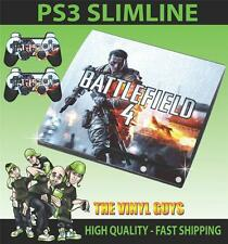 PLAYSTATION PS3 SLIM BATTLEFIELD 4 001 STICKER SKIN & 2 PAD SKINS