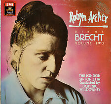 CLASSICAL LP ROBY ARCHER SINGS BRECHT VOLUME TWO LONDON SINFONIETTA