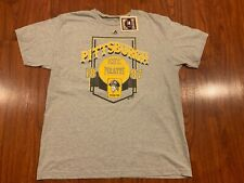 Majestic Men's Pittsburgh Pirates Cooperstown Throwback Jersey Shirt XL MLB Gray