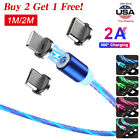 1M/2M LED Light Up Charger Charging Cable USB Cord for Samsung iPhone LG Moto