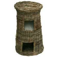Three Tier Wicker Pet Bed or Cat Basket Pod House