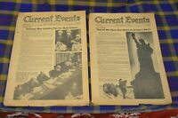 Vtg Pair of 1946 CURRENT EVENTS Magazines-Open Doors to Europe&German Punishment