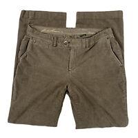 Eddie Bauer Women 12 Curvy Straight Leg Trouser Corduroy Pants Pockets Brown