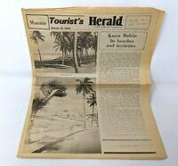VTG 1978 Tourist's Herald Manaus Brazil Bahia Beaches Travel Newspaper FP20