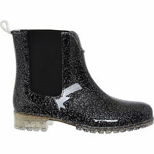 TAMARIS Black Glitter Chelsea Boots