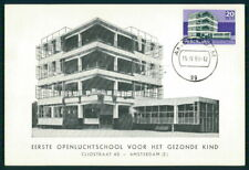 NETHERLANDS MK 1969 ARCHITECTURE BAUHAUS AMSTERDAM SCHOOL MAXI CARD MC CM em81