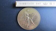 Brabant Medaille 70 mm versilbert von 1919 Jugendstil in vz+ sig. G.Devreese(E2)