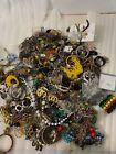 16LB Bulk Whole Lot Estate Costume Loose Scrap Junk Jewelry Necklaces Bracelet c