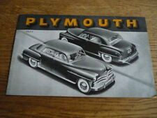 PLYMOUTH RANGE CAR BROCHURE, 1950 USA