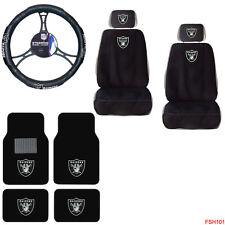 NFL Oakland Raiders Car Truck Seat Covers Steering Wheel Cover & Floor Mats Set