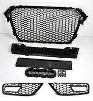 Für Audi A4 B8 12-15 RS4 Look Wabengrill Kühlergrill Waben Gitter diffusor