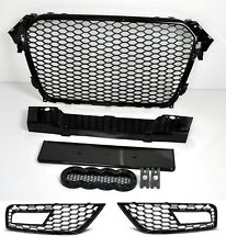 Für Audi A4 B8 12-15 RS4 Look Wabengrill Kühlergrill Waben Gitter diffusor #m