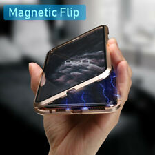 Magnetic Case For iPhone 11 Pro Max Adsorption Double 360° Tempered Glass Cover