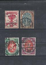 Deutsches Reich,1919 Michelnummern: 107 - 110 o, gestempelt, Michelwert € 9,00