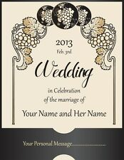 4 Personalized Custom Wedding Wine Labels Laser Printed vintage Stickers