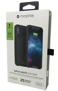 Mophie Juice Pack Access 2,000 mAh Battery Case for Iphone X & Iphone XS Black