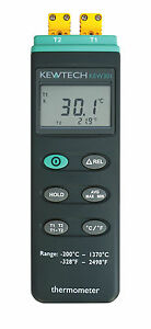 Kewtech KEW301 Dual Channel Thermometer 200C-1370C