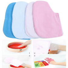 1 Pair Paraffin Wax Protection Leg Foot Gloves Foot SPA Mitts Random Color New