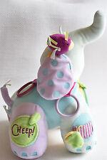MANHATAN Elephant Baby Blankie Comforter Teddy Soft Toy VGC NEXT DAY POST
