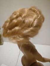 """Acrylic  Doll Wig 4"""" in  Blond in a Vintage Style #404C"""