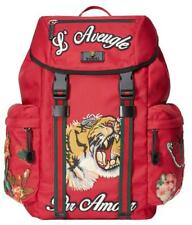 "NEW GUCCI CURRENT TIGER FLOWERS ""L'AVEUGLE PAR AMOUR"" BACKPACK BAG"