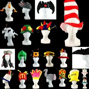 Adult Unisex  Novelty Hat Party Wear-Animals Top Hat Pirate Beer Jester and more