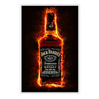 Whiskey on Fire - Poster - Jack Daniels Feuer whisky lounge bar