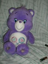 "Just Play 2015 Care Bear Share Bear 14"" Talks Sings Moves Works"
