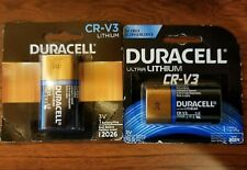 (5) Duracell Ultra Lithium CR-V3 exp. 2024 to 2026 Free Shipping