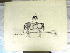 """DALI SALVADOR (1904-1989)  """"Don Quichotte"""" Eau forte en noir s/Japon nacré"""