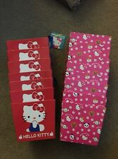 Hello Kitty Cardboard Pail Basket Box Storage Container Tote Lot Of 15 NEW