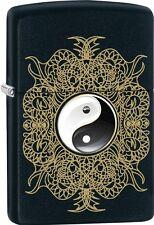 Zippo 2015 Catalog Chinese philosophy of Yin and Yang Lighter Black Matte 28829
