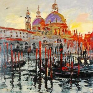 Majestic Gondolas by Elena Bond (Fine Art on Canvas, Venice Italy)