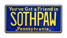 Rocky IV | Sylvester Stallone | SOTHPAW | STAMPED Replica Prop License Plate