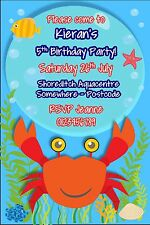 Children  Personalised Pool Swimming Party Birthday invitations x 10