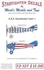 Starfighter Decals 1/72 A.E.F. SHOWBIRDS SPAD XIII Part 1