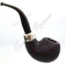 Pipa smoking pipe PFEIFE Peterson KAPRIES XL02 SANDBLAST SABBIATA ARGENTO SILVER