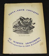 RAVILIOUS, ERIC. Fifty-Four ( 54 ) Conceits. Only Edition. 1933. Very Rare. DJ