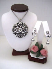 """Brighton """"EMMA"""" Reversible Necklace-Earring Set (MSR$110) NWT/Pouch"""
