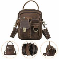 Men Genuine Leather Bum Belt Waist Bag Fanny Pack Travel Shoulder Messenger Bag